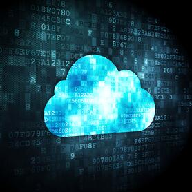 Image of digital cloud to represent cloud call center software solutions.